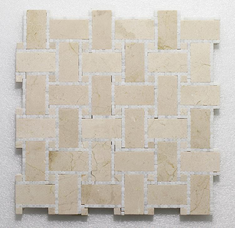 "WJ 501 B.view-Micro Mosaic- C.Marfil H.&Pure White P. 12"" x 12"" Image"
