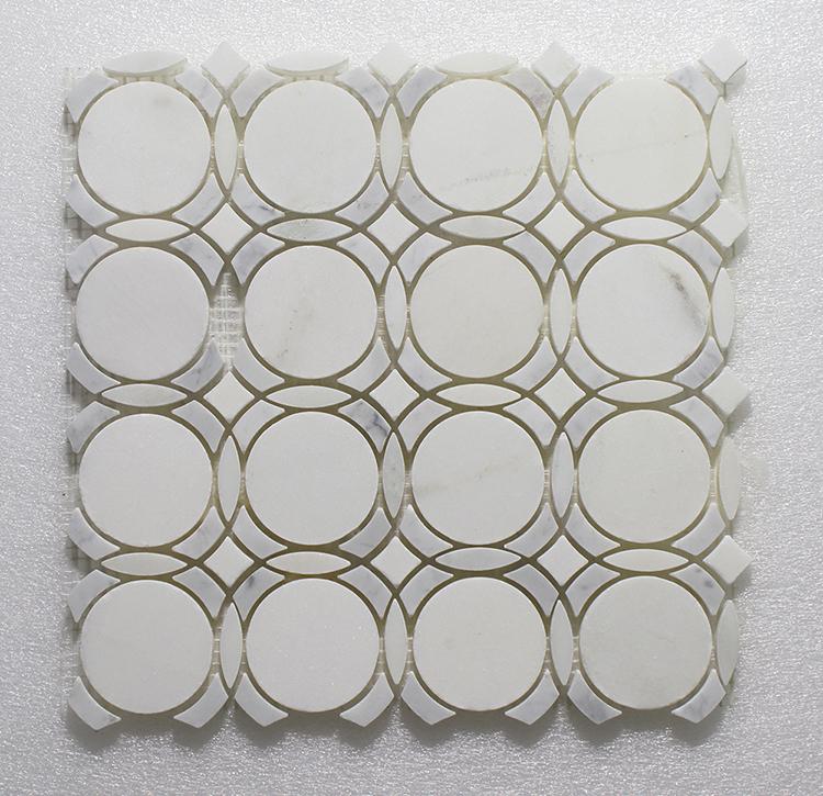 """WJ 510 Infinity-Pure White H.&Carrara P.&Pure White P. 11.25"""" x 11.25"""" Image"""