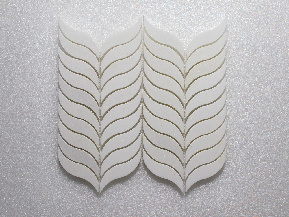 "WJ 506 Feather - Thassos P. 10.5"" x 12"" Image"