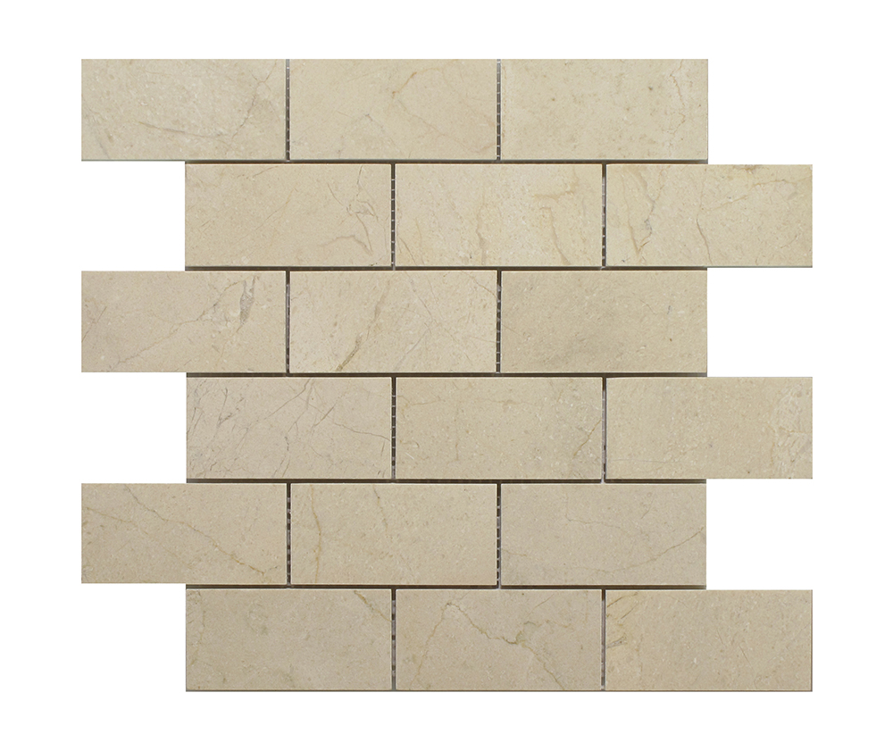 "Crema Marfil Brick - 2""x4"" Image"