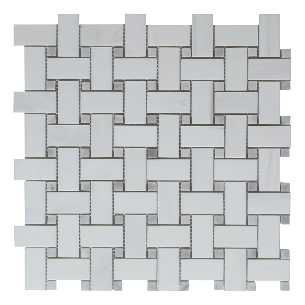 Dolomite - Grey Dot Basket Weave Image