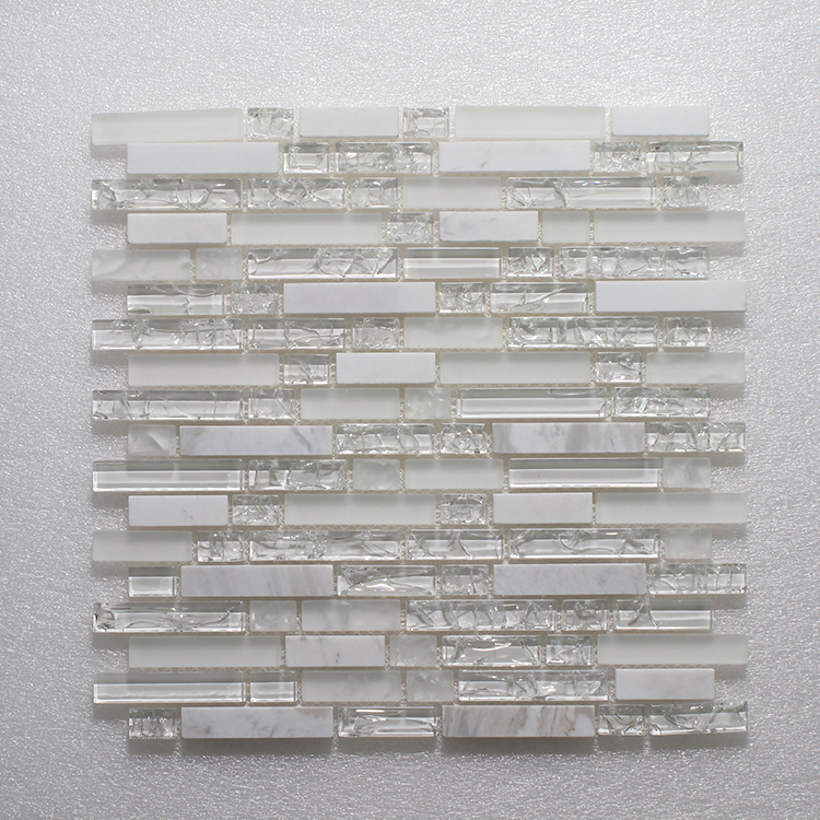 Glass & Stone Blend Random Strip Mosaic MAG 010-ST Image