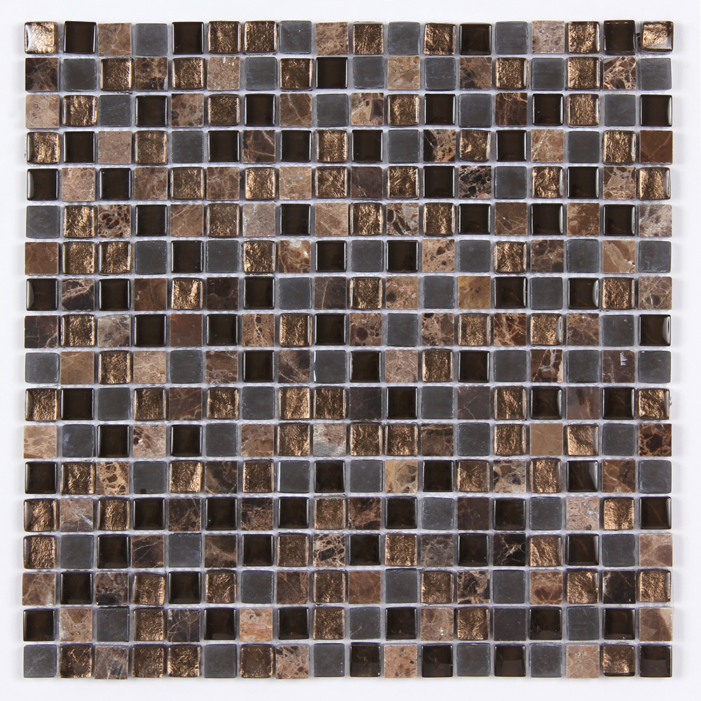 Glass & Stone Blend Square Mosaic MAG 4437-SQ Image