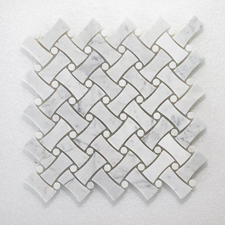 "MAG 932 NovaWeave Carrara & White Dot - 12"" x 12"" Image"