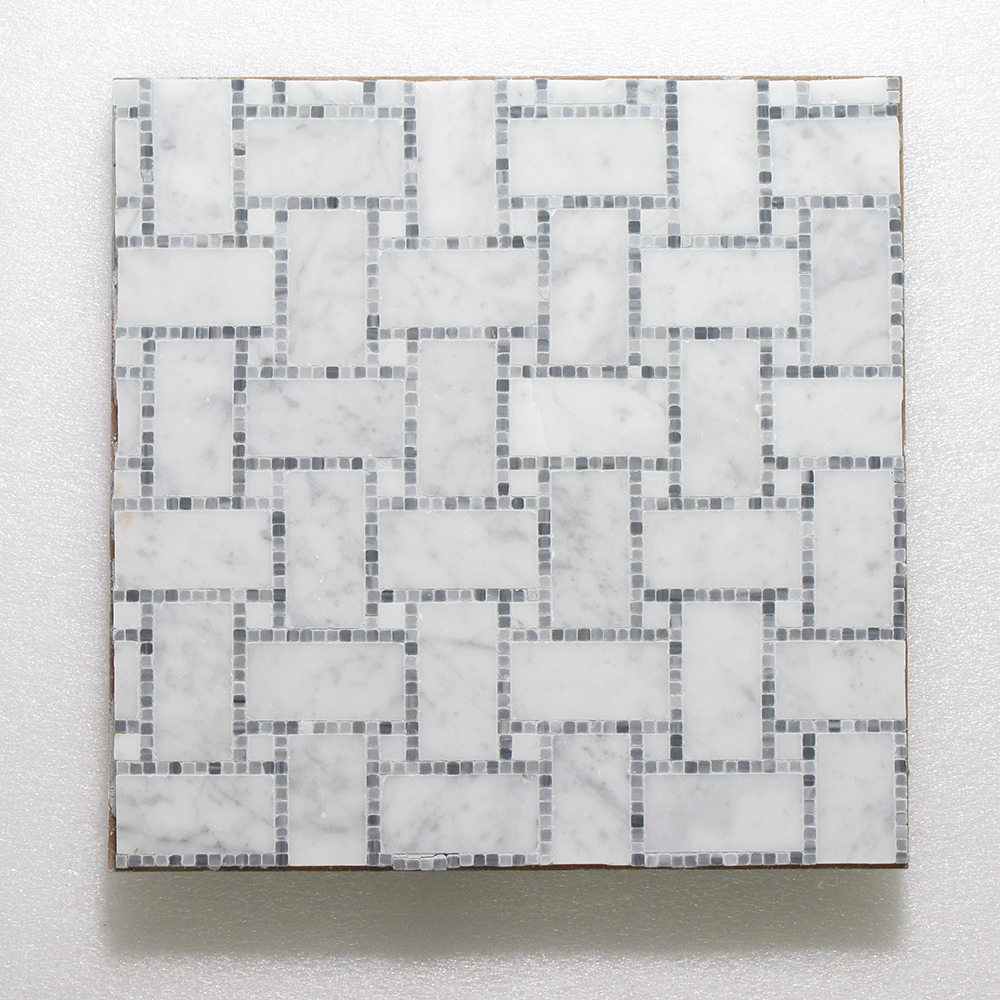 WJ 500 B.View - Micro Mosaic - Pure White (H) & Carrara (P) 12x12 Image