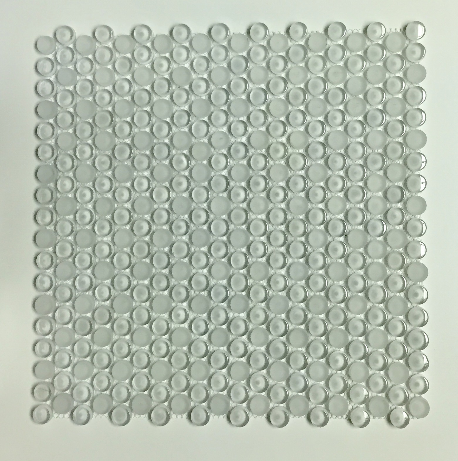 "MAG 941 PENNY ROUND ALL WHITE GLASS 12"" x 12"" Image"