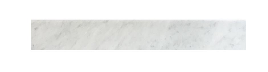 "Milas White Both Side Beveled - 4"" x 24"" Image"