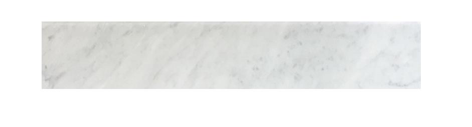 "Milas White Both Side Beveled - 4"" x 36"" Image"