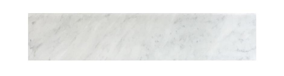 "Milas White Both Side Beveled - 4"" x 48"" Image"