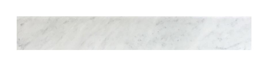 "Milas White Both Side Beveled - 5"" x 36"" Image"