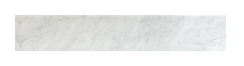 "Milas White Both Side Beveled - 6"" x 36"" Image"