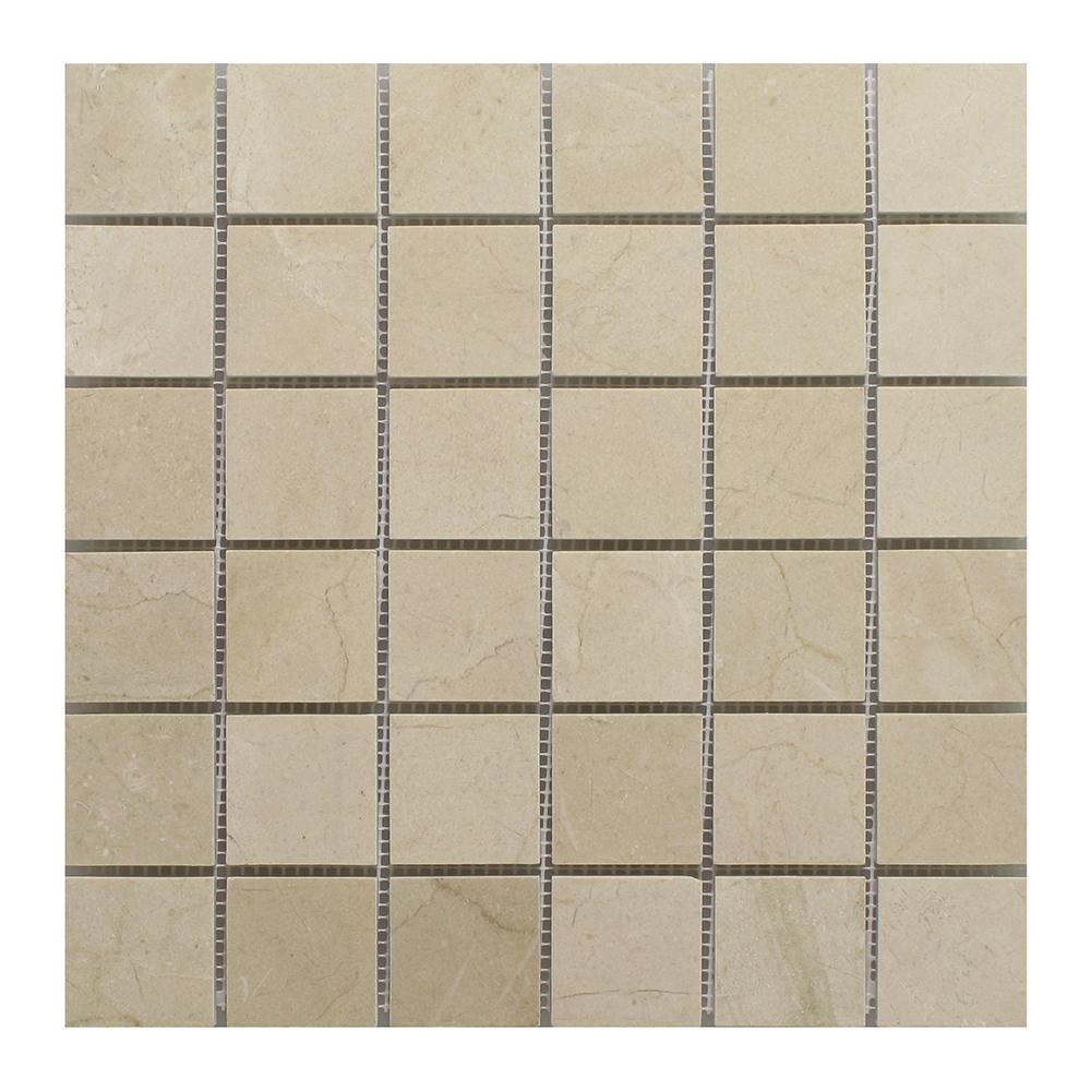 """Crema Marfil Square 2""""x2"""" Image"""