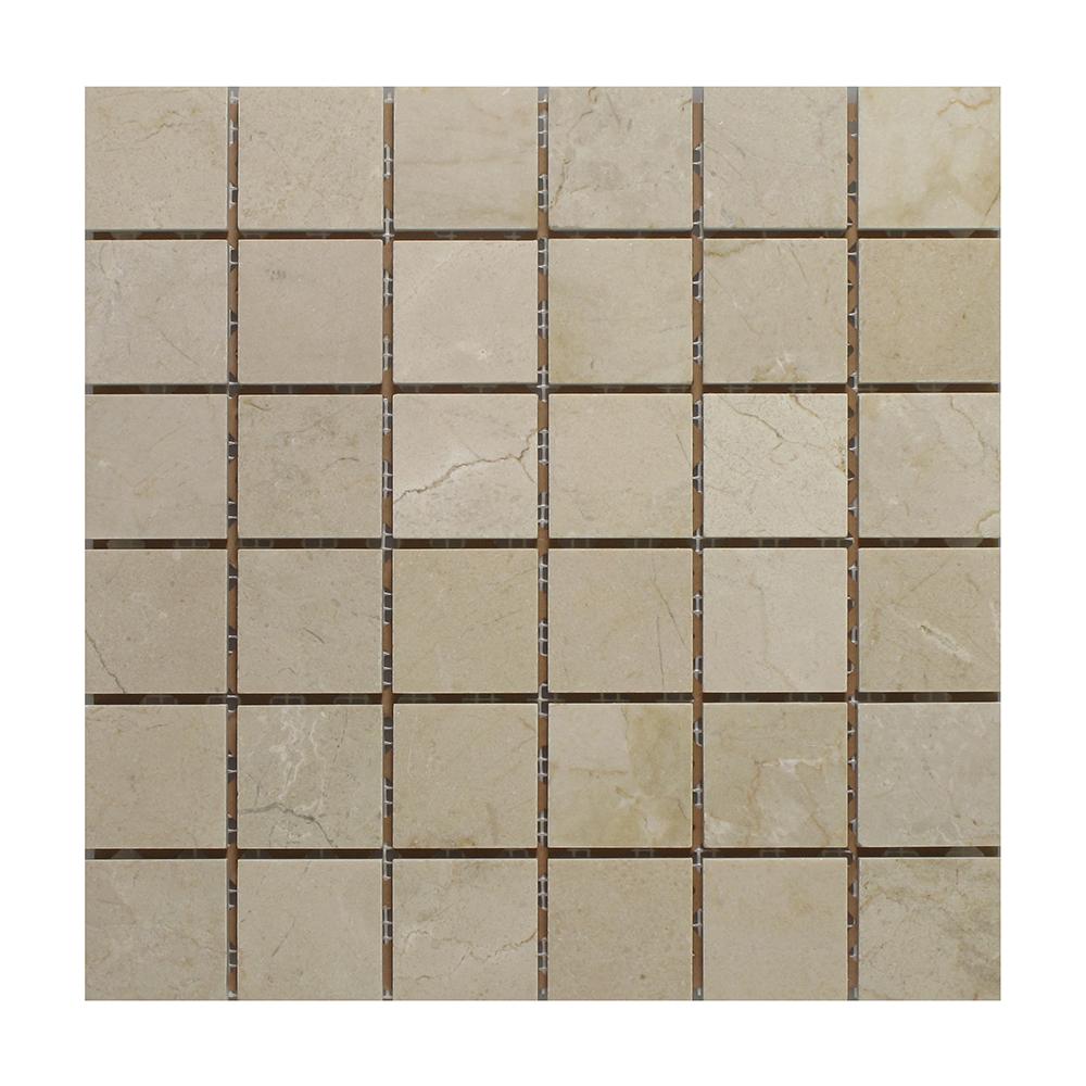 "Crema Marfil Marble Square - 2"" x 2"" Image"