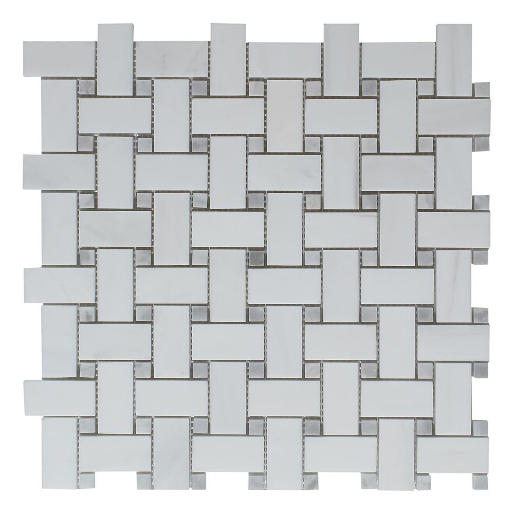 Dolomite - Grey Dot Basket Weave Image