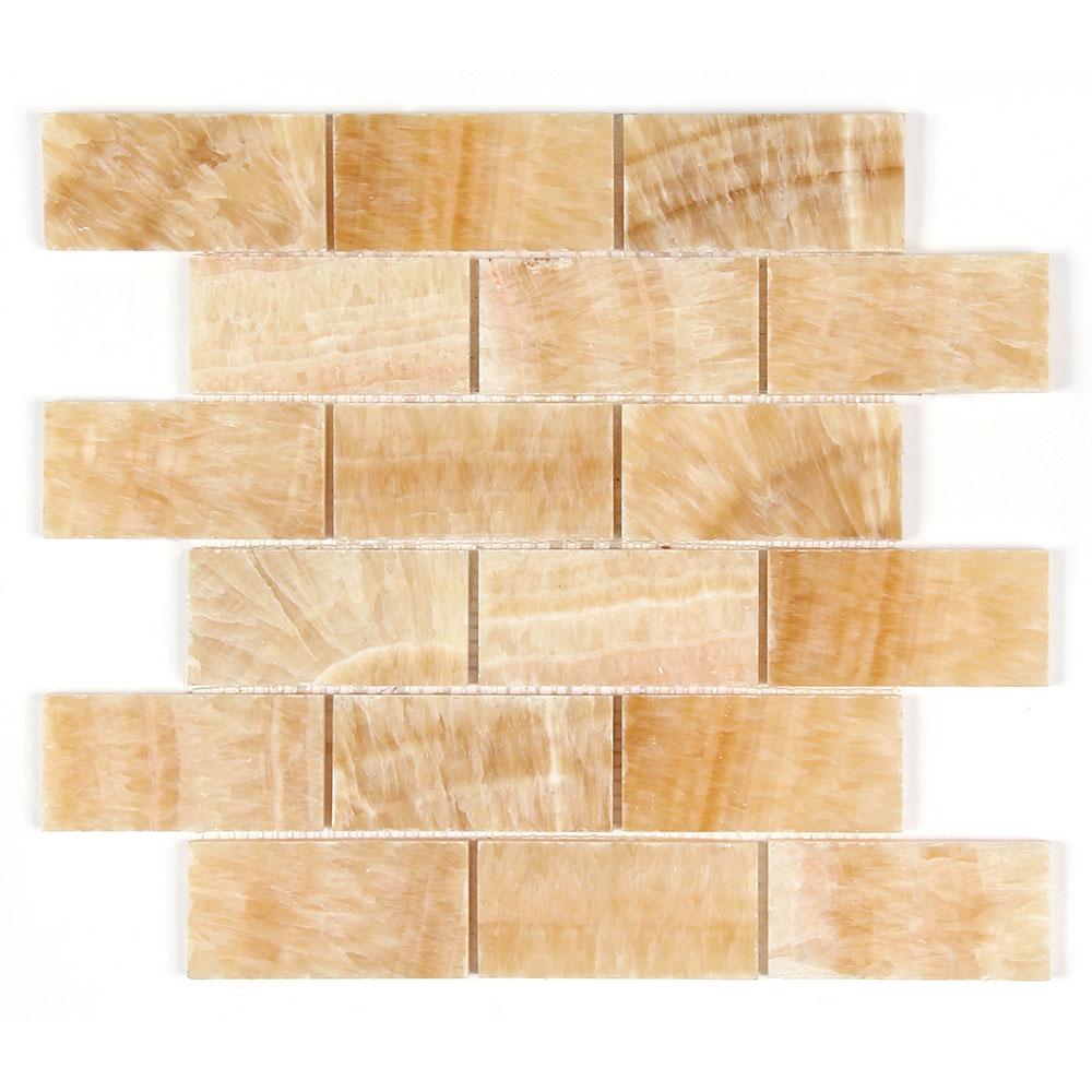 Honey Onyx 2x4 Polished Mosaic Image