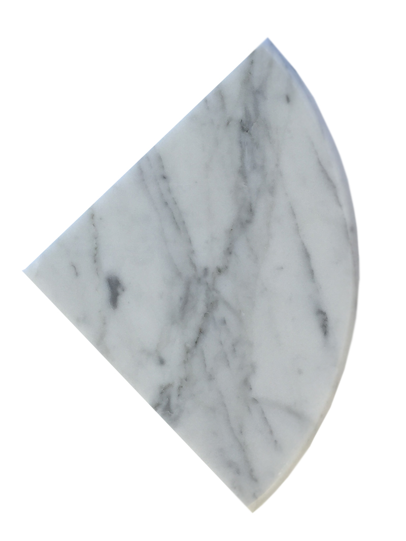 "Bianco Carrara Full Bulnose Both Side Polished - 9"" Image"
