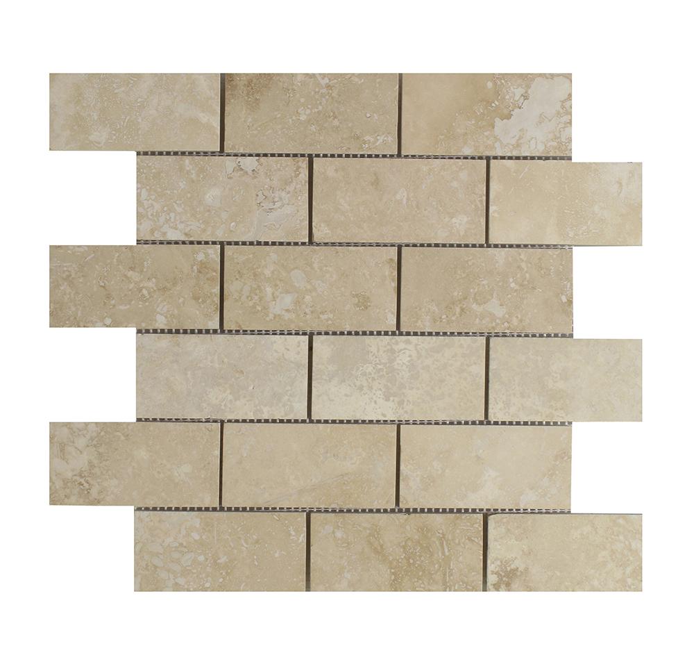 """Light (Chiaro / Ivory) Brick - 2"""" x 4"""" Image"""