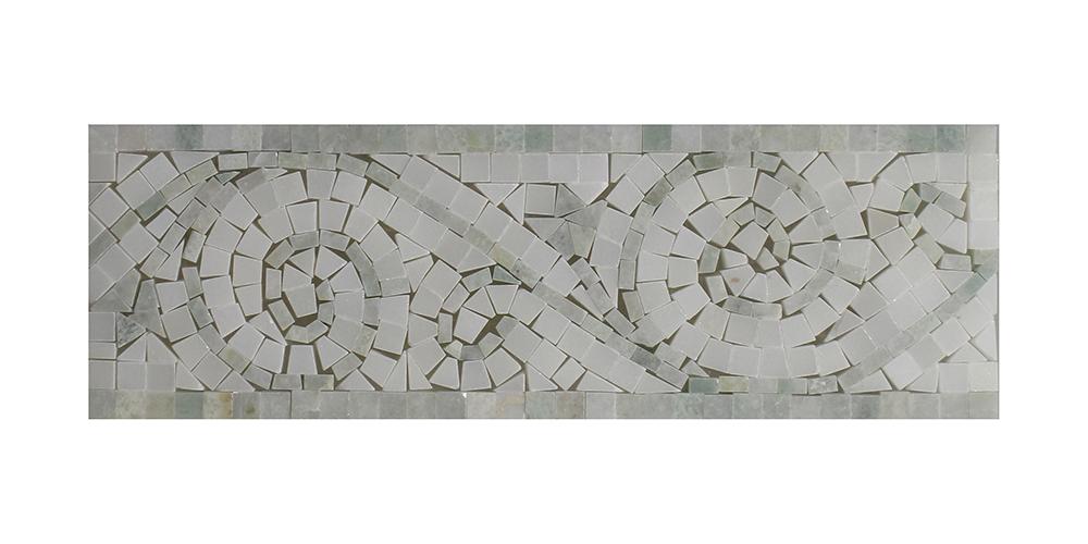 "Ming Green - Pure White Art Border - 4"" x 12"" Image"