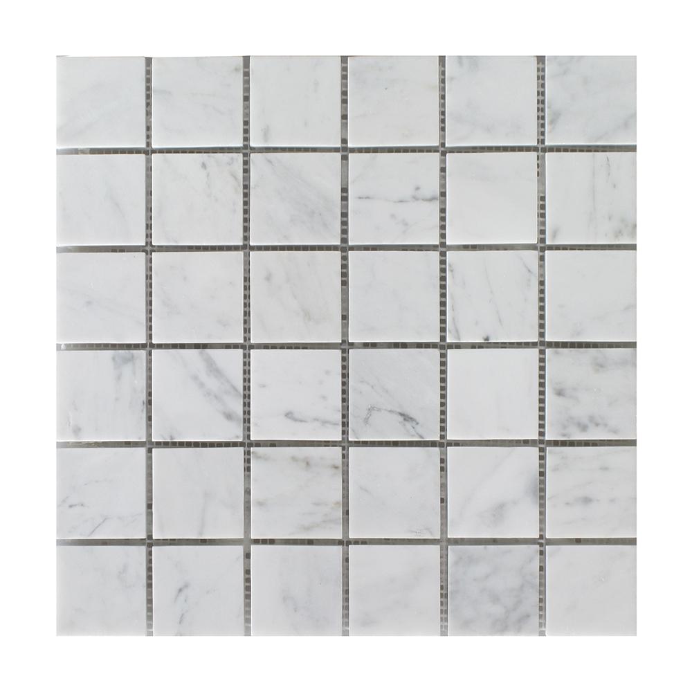 "Bianco Carrara Square - 2"" x 2"" Image"