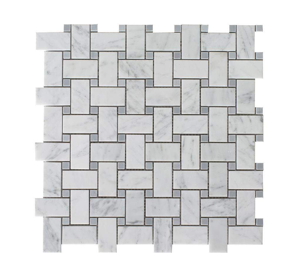 Bianco Carrara - Gray Dot Basket Weave Image