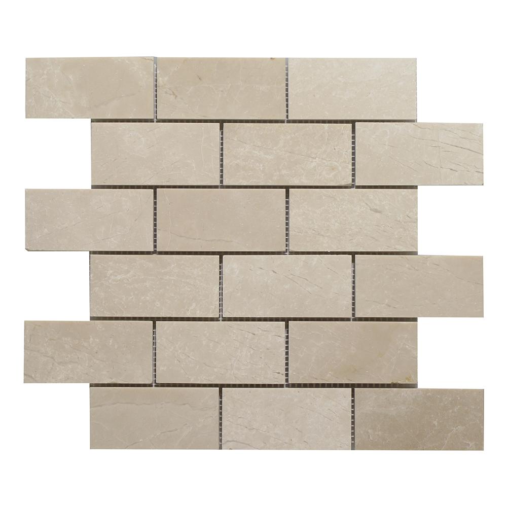 """Botticino Brick - 2"""" x 4"""" Image"""